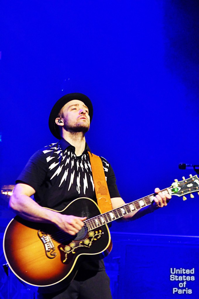 Justin Timberlake guitar concert paris privé crédit mutuel live show France Olympia 20 20 experience worldTour photo by United States of Paris blog