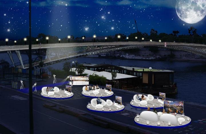 Les Incurvées premier festival des soirées TV en plein air cinéma berges de la Seine Pairs septembre 2014 téléviseurs ultra HD incurvés Samsung