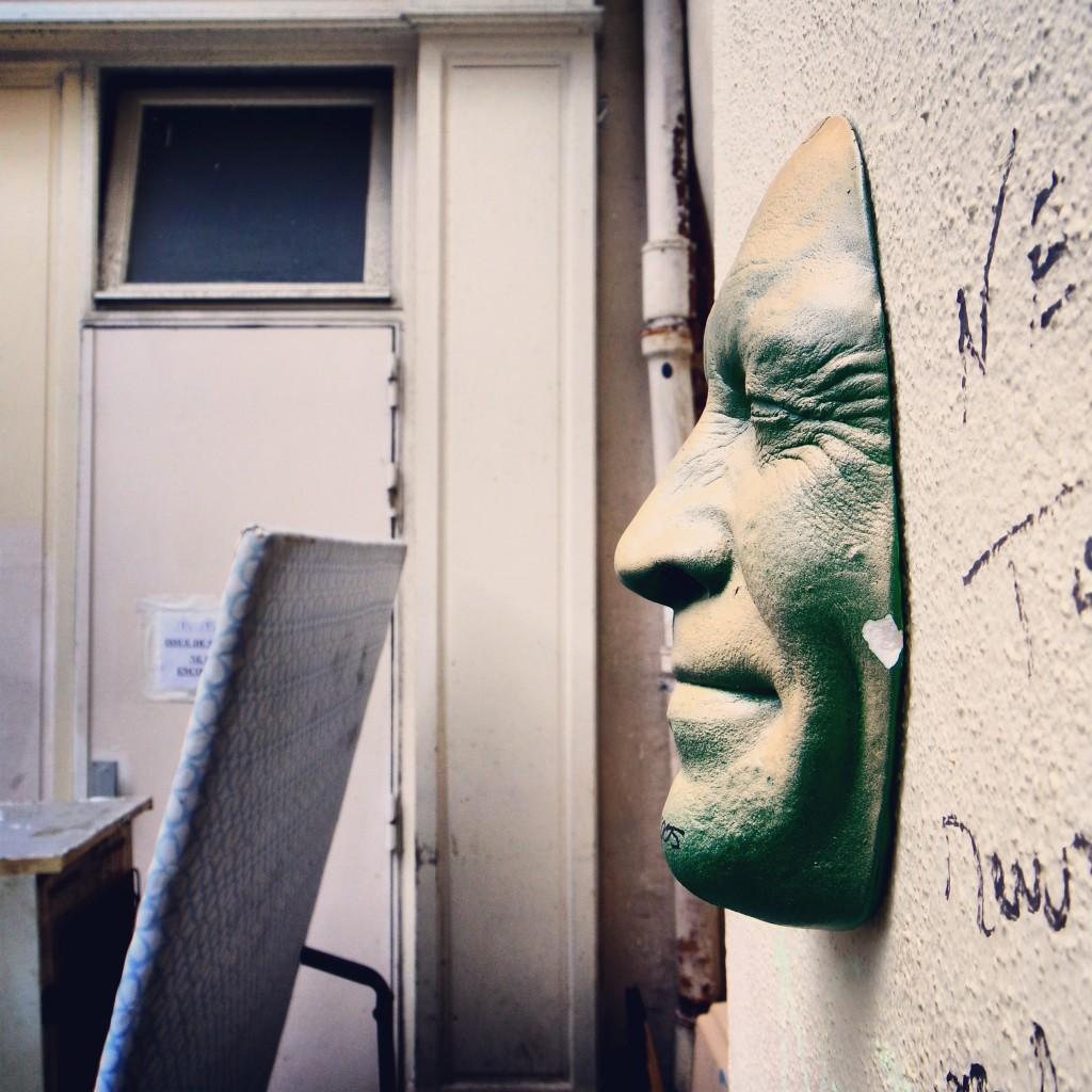 Gregos portrait moulage street art wall paris photo du mois by United States of Paris blog