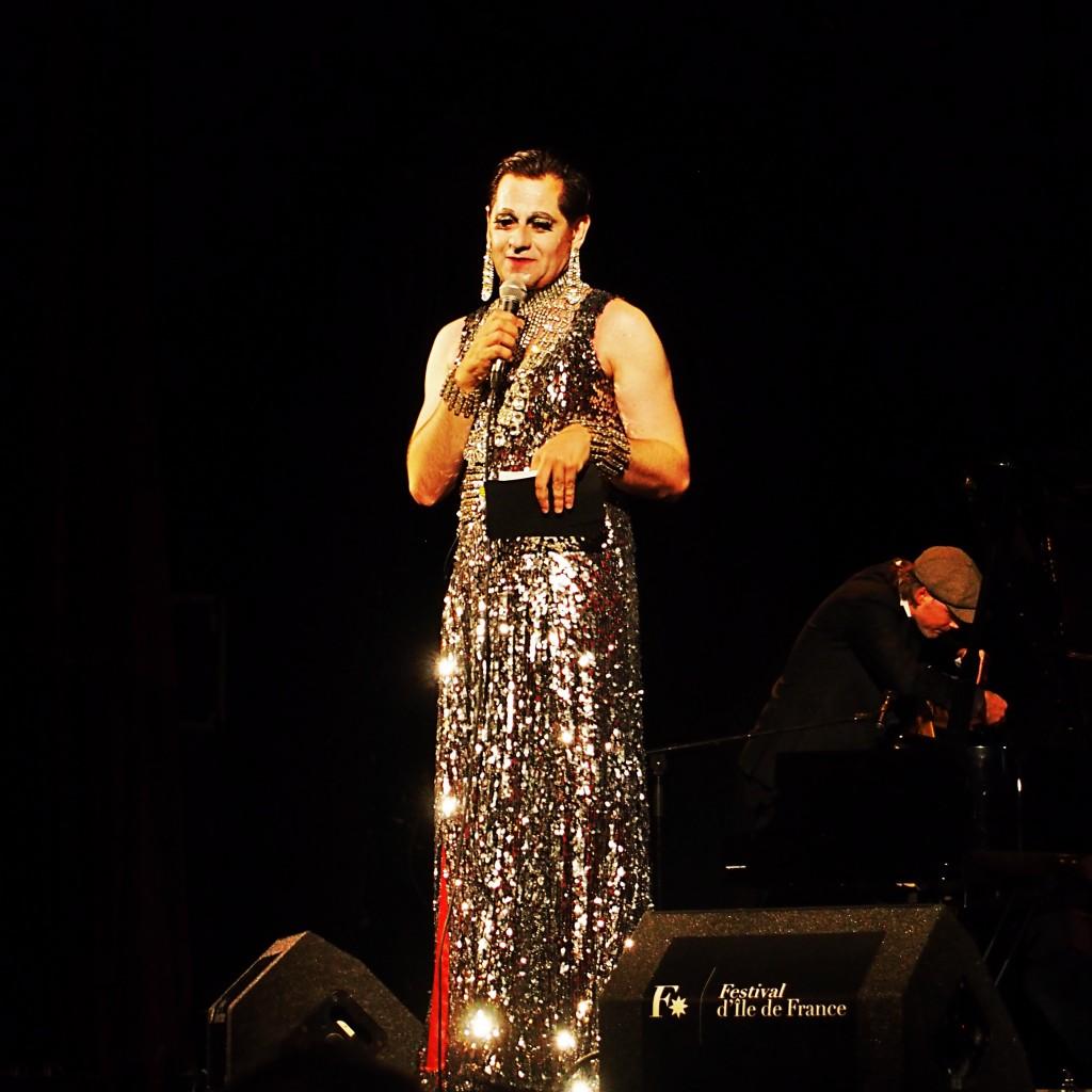Olivier Py alias Miss Knife soirée cabaret ouverture Festival d'Ile de France concert musique Le Trianon Paris photo by United States of Paris blog