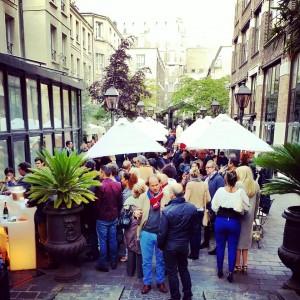 Terrasse Les Jardins du Marais Hôtel rue amelot 11e soirée de lancement photo by united states of paris blog