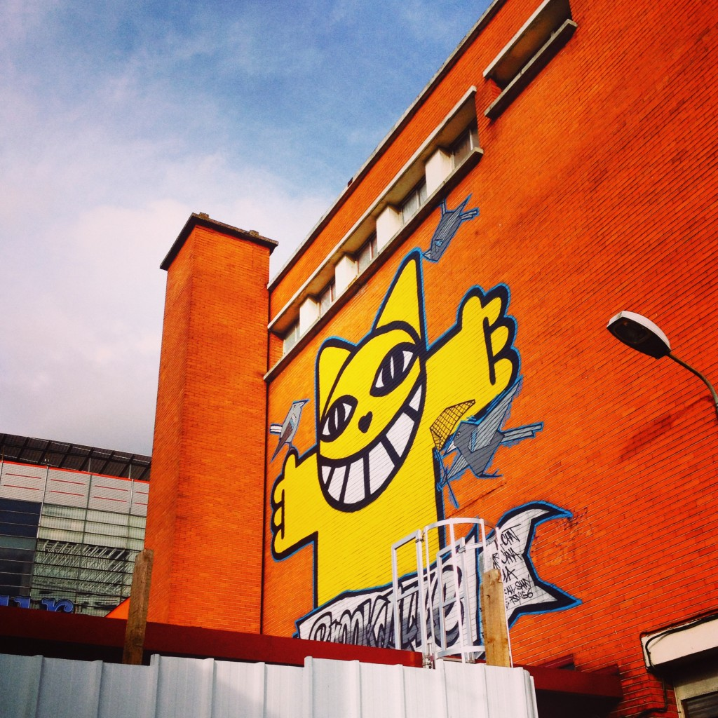M. Chat by Thoma Vuille sourire smilegraffiti street art wall Le Tri Postal Lille
