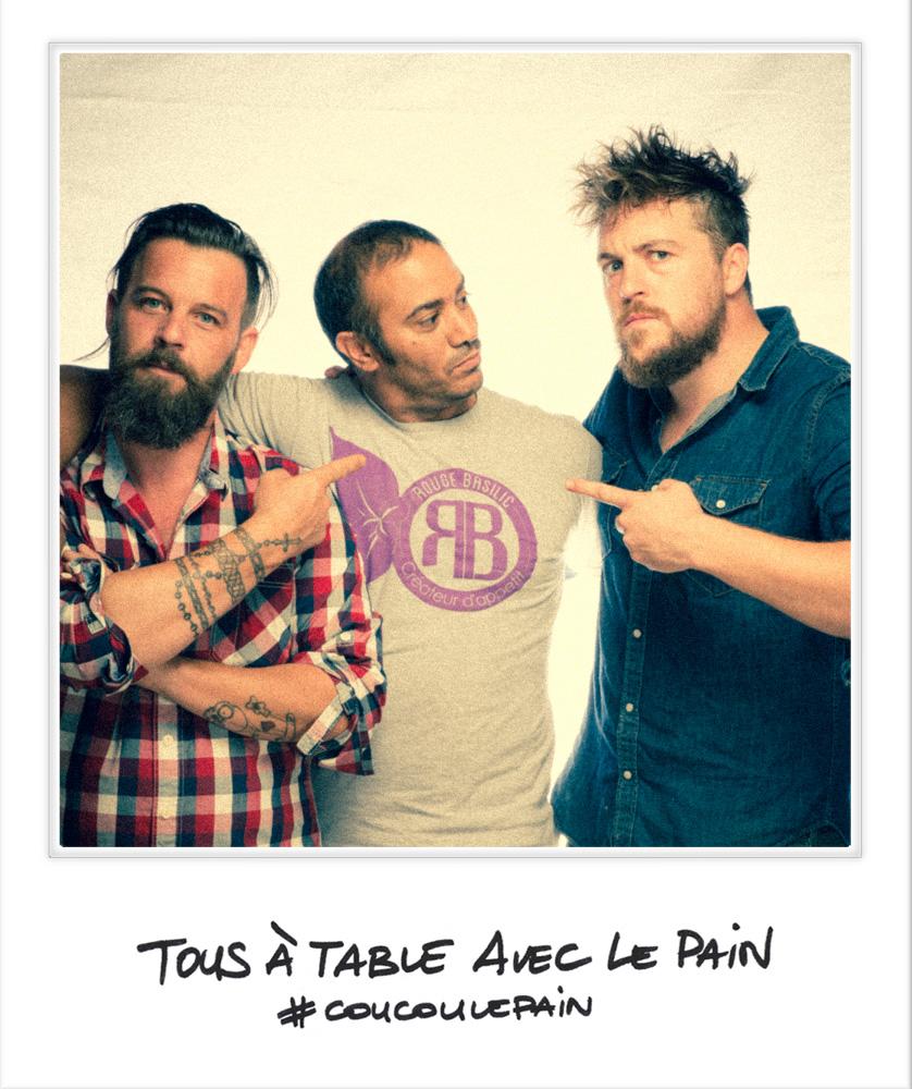 Selfie Laurent Favre-Mot chef patissier Marseille - Florent Ladeyn Top Chef - Brahim Hennana Rouge Basilic Festival Tous à Table avec le Pain photo